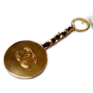 Chanel Keyring (Black,Gold)