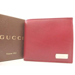 Gucci Men's Leather Wallet Red