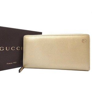 Gucci Unisex Leather Wallet Gold