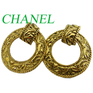 Chanel Chanel Gold Earrings Vintage Accessories 0560 Coco Mark