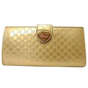 Gucci Leather Wallet Gold
