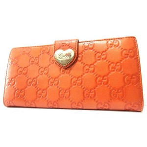 Gucci Leather Wallet Orange