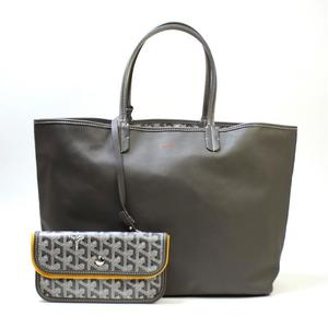 Goyard Ange PM Women's Leather Canvas Tote Bag Gray