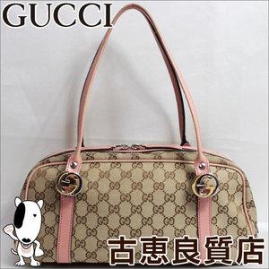 Gucci GG Canvas 232958 GG Canvas Shoulder Bag White,Beige Pink