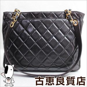 Chanel Leather Leather Shoulder Bag Black,Gold