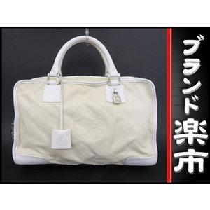Loewe Loewe Amazonona Leather Handbag White Bag