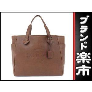 Loewe Leather Tote Bag Brown