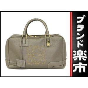 Loewe Leather Boston Bag Bronze