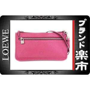 Loewe Leather Leather Shoulder Bag Pink