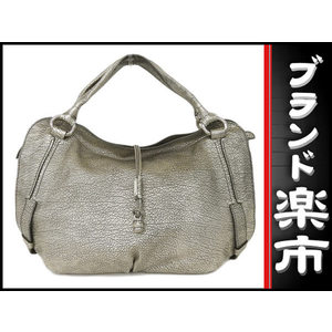 Celine Leather Leather Handbag Metallic Gold