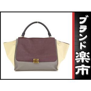 Celine Leather Bag Bordeaux,Gray,White