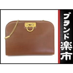 Salvatore Ferragamo Gancini  Shoulder Bag Brown