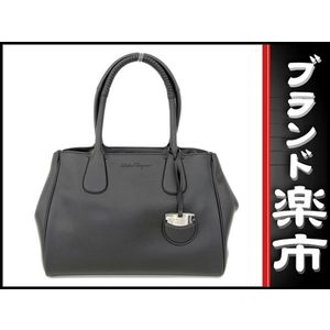 Salvatore Ferragamo Leather Leather Tote Bag Black