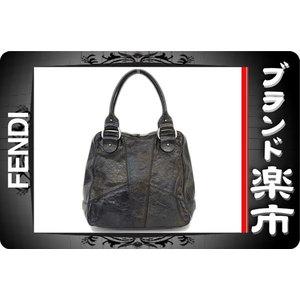 Fendi Patent Leather Handbag Black,Metallic Black