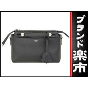 Fendi Leather 8BL135-1D5 Leather Shoulder Bag Black