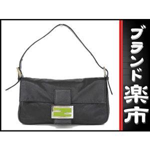 Fendi Leather Leather Bag Black,Silver,Green