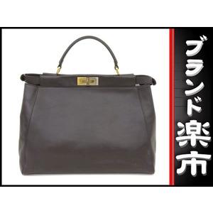 Fendi Leather Leather Suede Bag Brown,Dark Brown