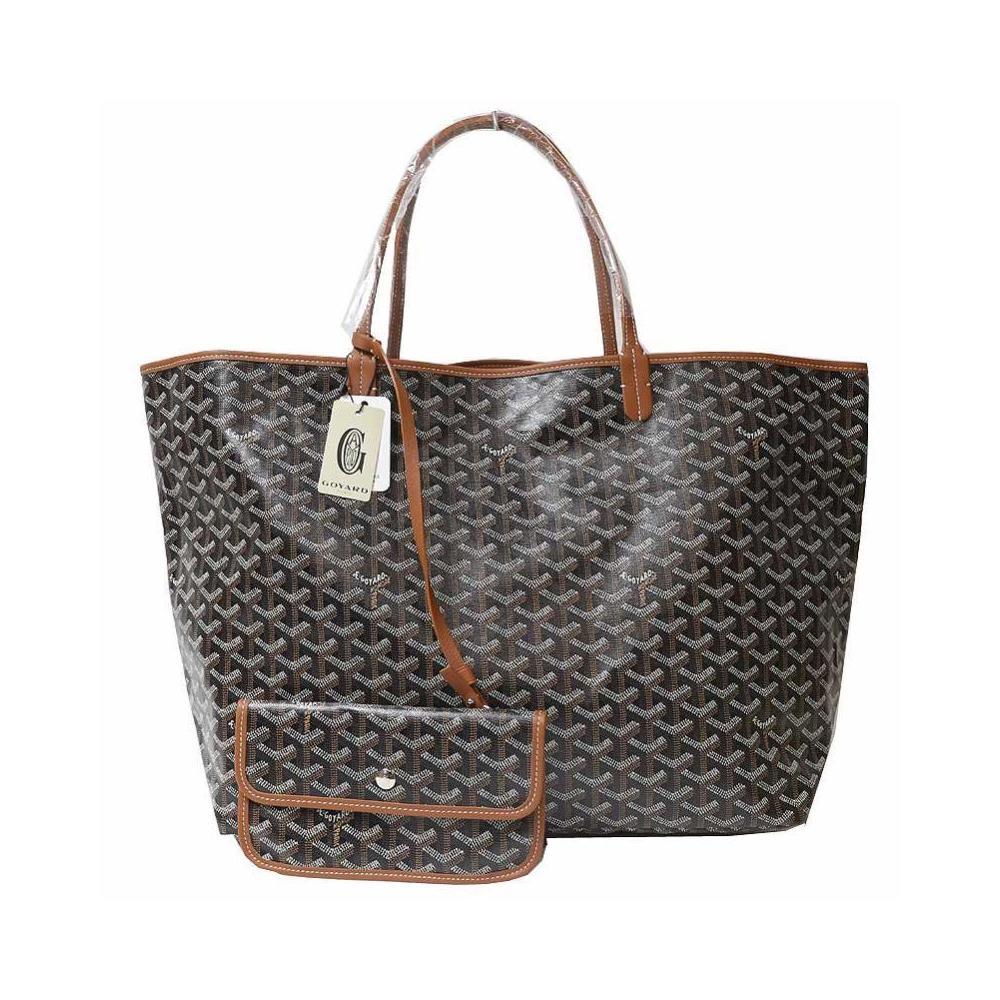 Goyar Goyard Saint Louis Gm Amalouisgm 03 Black × Brown Tote Bag Men's Women's