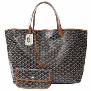 Goyar Goyard Saint Louis Gm Amalouisgm 03 Black × Brown Tote Bag Men's Women's