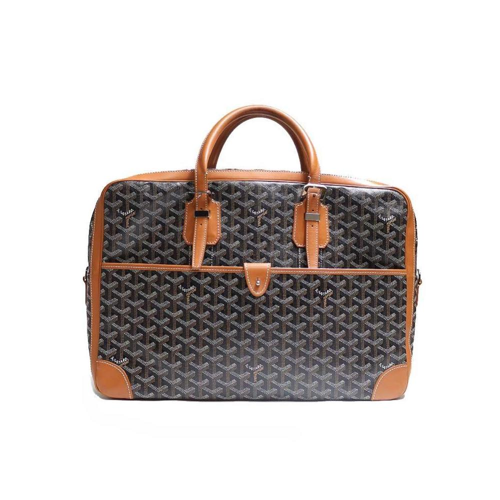 Goyar Goyard Ambassador Mm Black × Brown Business Brief Briefcase Men's