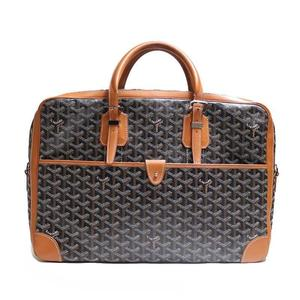 Goyar Goyard Ambassador Mm Black × Brown Business Brief Briefcase Men's
