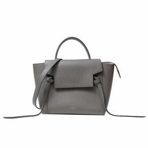 Celine 180153 Women's Leather Bag Gold,Gray