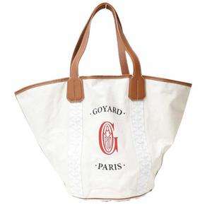 Goyard Bellara Reversible Tote Bag Natural × White Shoulder Women's