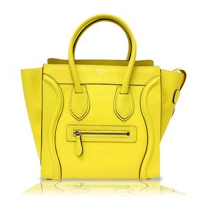 Celine Luggage Micro Shopper 167793 Yellow Handbag Ladies