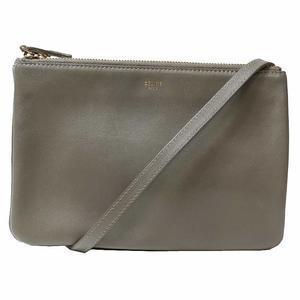 Celine Trio 165113 Gray Shoulder Bag Women's