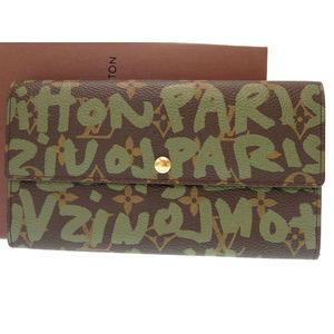 Louis Vuitton Monogram Graffiti M92188 Unisex Monogram Graffiti Wallet Vert