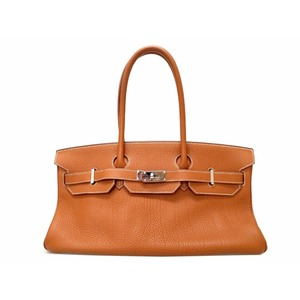 Hermes Birkin Women's Taurillon Clemence Leather Shoulder Bag Brown