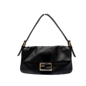 Fendi Baguette Women's Leather Handbag Black