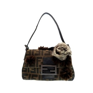 Fendi Zucca Women's Canvas Handbag Brown
