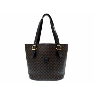 Celine Macadam Women's PVC Handbag Black