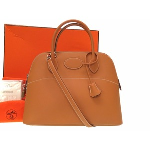 Hermes Boledo 31 Vau Chamonix Natural Handbag □ G With Engraved Strap 2way 0152