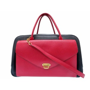Hermes Women's Courchevel Leather Shoulder Bag Navy,Red
