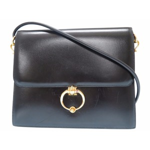 Hermes Leather Women's  Shoulder Bag Black
