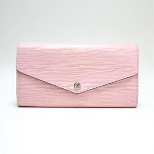 Louis Vuitton Epi 61216 Women's Epi Leather,Silver Wallet Rose Ballerine