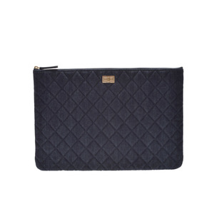 Second-hand Chanel 2.55 Clutch Bag Denim Blue G Metal Box Galleries Unused Christmas Gifts ◇