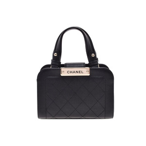 Second-hand Chanel 2 Way Shopping Bag Calf Black G Fittings 17 Years Cruise Box Gala New Same Christmas Gifts ◇