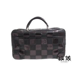 Shinzo Louis Vuitton Collection Mini Boston Bag Leather Black × Bronze 12-13 Aw ◇