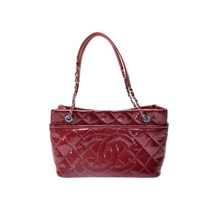 Used Chanel Matrasse Chain Shoulder Bag Enamel Red Sv Fittings Gala New Same Christmas Gifts ◇
