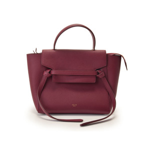 Celine Second-hand Serine Micro Belt Bag Leather Bordeaux Strap With Unused Christmas Gift ◇