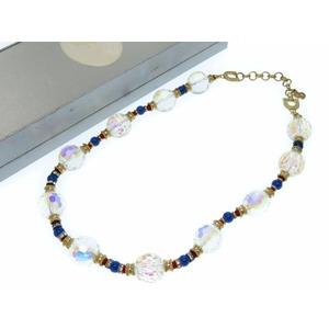 Christian Dior Choker Rhinestone Gold Ladies 0372