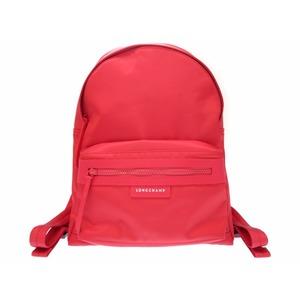 Longchamp Pre Age Neo Backpack Rucksack Nylon Red Ladies 0245 Longchamp