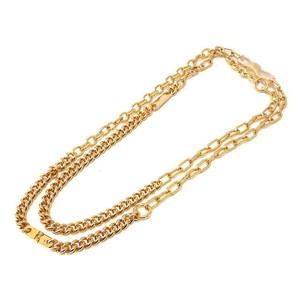 Salvatore Ferragamo Ferragamo Duplex Chain Necklace Gold 0304