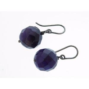 Bottega Veneta Stone Earrings Silver Purple 0503 Bottegaveneta Women's
