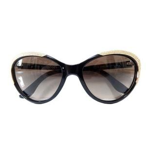 Valentino Rhinestone Sunglasses Eyewear 0309 Black Edge