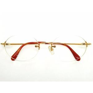 Celine K18 Glasses Sunglasses Degree 22.49g Yellow Gold 0472 Unisex