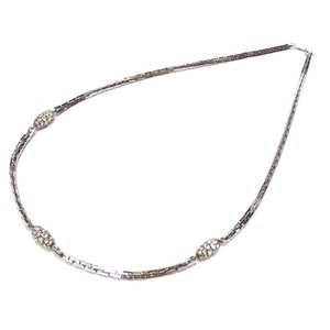 Christian Dior Dior Rhinestone Chain Necklace ☆ 0108 Christian